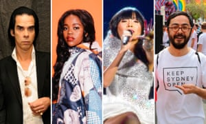 Nick Cave, Tkay Maidza, Dami Im and the Keep Sydney Open campaign manager, Tyson Koh