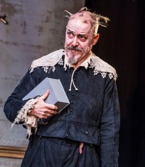 Skinflint … Griff Rhys Jones as Harpagon.