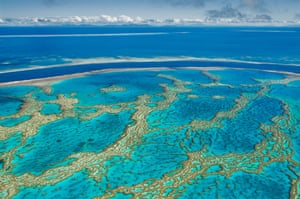 Turquoise Waters at Hardy Reef, part of the Great Barrier Reef.