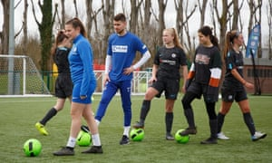 Jorginho takes part in the tournament arranged for International Women's Day at Chelsea's training ground.