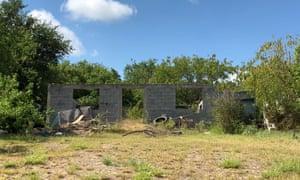 The patch of grass in Rio Bravo where Gómez died.