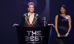 Megan Rapinoe: 'I ask everybody here to lend your platform, to lift people up'