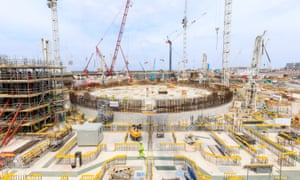 Building work on Hinkley Point nuclear plant.