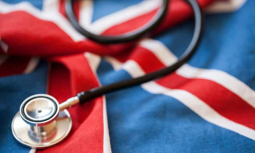 Stethoscope on a union flag