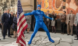 A good ticking off: Peter Serafinowicz as The Tick.