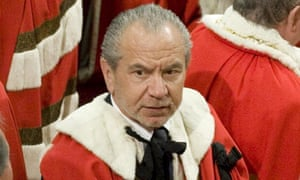 Alan Sugar in the House of Lords.