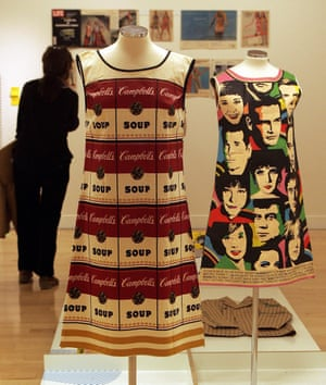 Campbell's 'souper dress' reappropriated Andy Warhol's screenprint designs.
