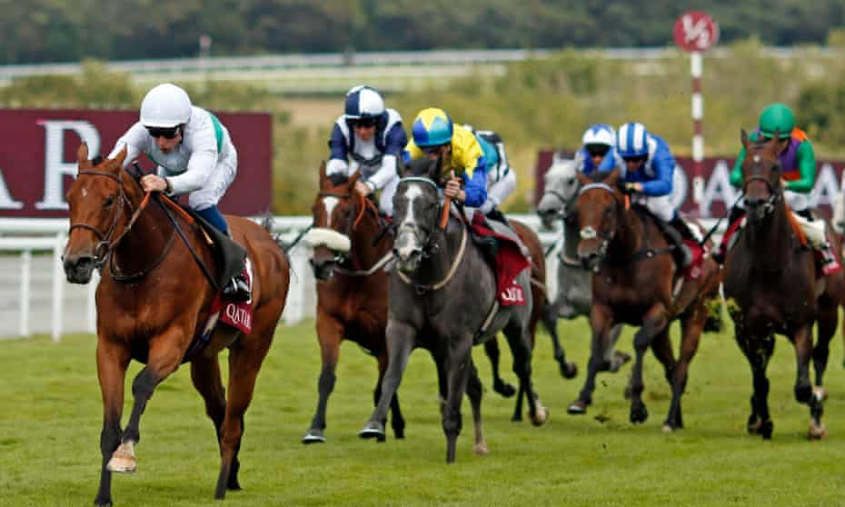 Suesa wins the King George Stakes at Goodwood with Battaash well beaten