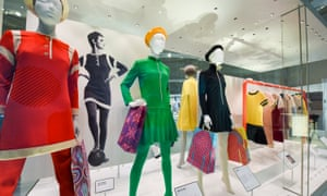 Exhibits at the Mary Quant exhibition at the V&A in London