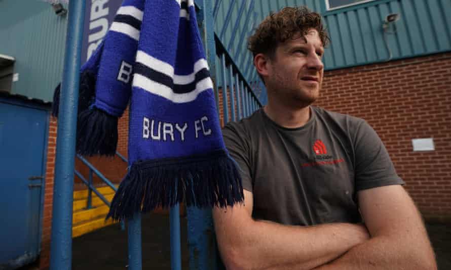 Bury supporter Greg Edyvean at Gigg Lane