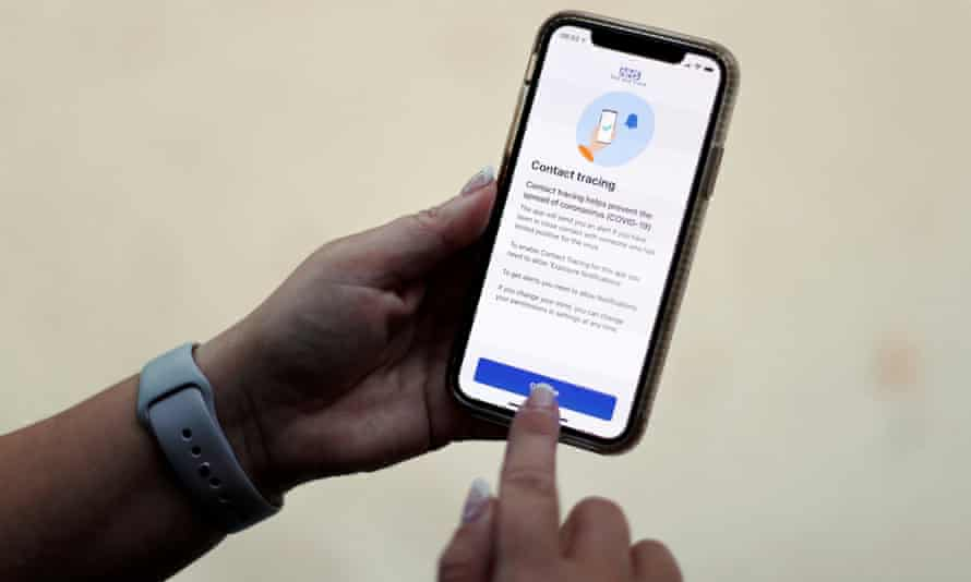 Covid-19 app on smartphone