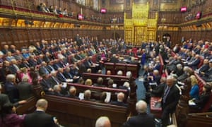 The House of Lords, where peers this afternoon inflicted their 15th defeat on the government over the EU withdrawal bill.