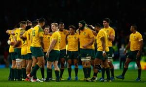David Pocock and his Australian team-mates savour their victory.
