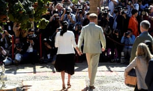 The Duke and Duchess of Sussex visit the Andalusian Gardens in Rabat, Morocco in 2019.