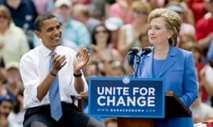 Obama and Clinton pictured in 2008.