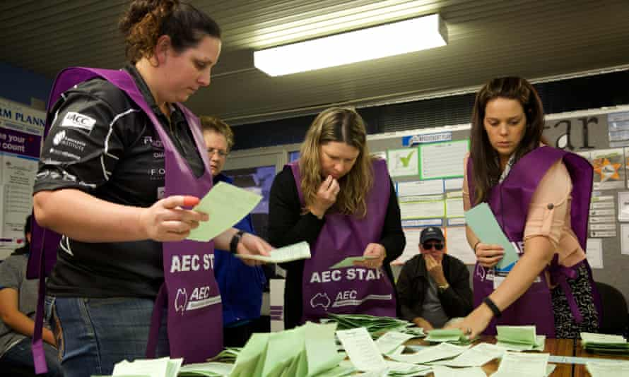 Staff from the Australian Electoral Commission