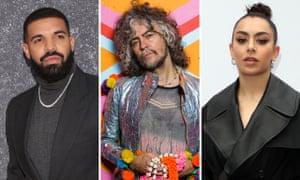 Drake, Wayne Coyne and Charli XCX.