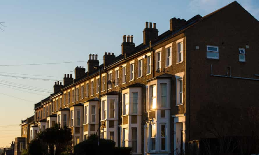 Terraced residential houses in London.