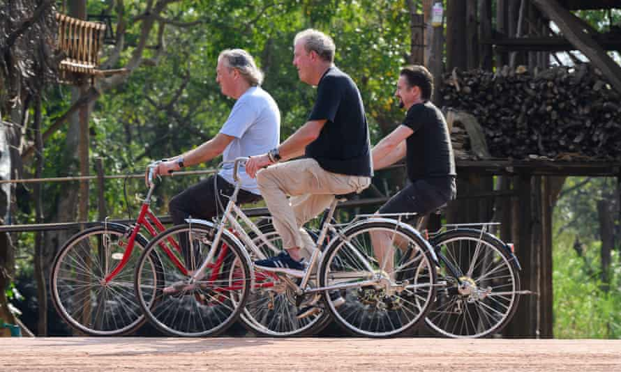 Piddling peddlers … James May, Jeremy Clarkson and Richard Hammond.
