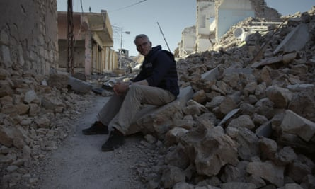 ISIS: The Origins of Violence TOM HOLLAND exploring the ruined streets of Sinjar, Iraq
