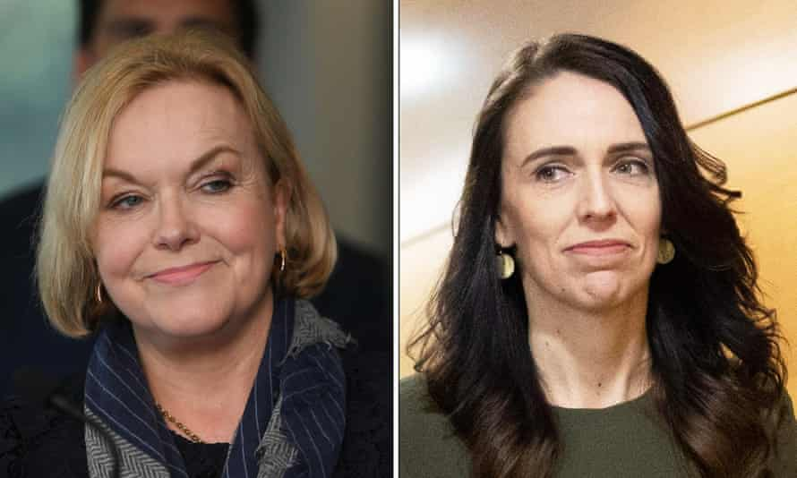 Judith Collins (L) and Jacinda Ardern.