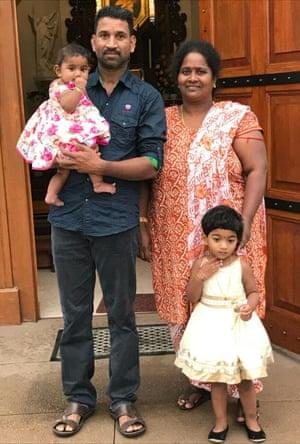 Tamil asylum seekers Nadesalingam and Priya and their two daughters