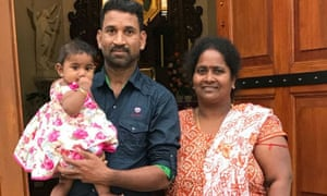 Tamil family case delayed: asylum seekers husband and wife Nadesalingam and Priya and their Australian-born daughter Tharunicaa. The family, who were living in Biloela, face deportation to Sri Lanka.