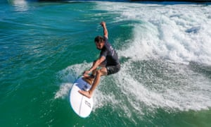 Bristol, UK: The mechanical wave surfing reef near Bristol reopens on Britain's hottest day of the year so far