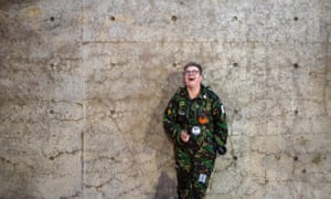 """Teenager Frankie Stocks, pictured against a remaining section of the pavilion wall in Manchester's Piccadilly Gardens. Stocks spray-painted """"The North is not a petri dish"""" on the now-demolished wall in response to the government's management of the Covid-19 pandemic."""