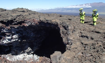 Mars simulation in Hawaii.