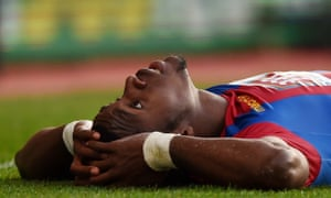 Crystal Palace's Wilfried Zaha. Unlikely to be lying down on the job at Anfield.