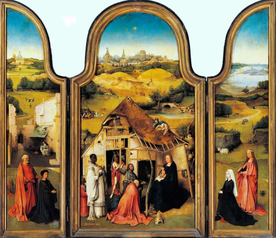 Epic sweep … the full Adoration of the Magi altarpiece, by Hieronymus Bosch.