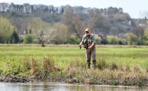 A fisherman in Salisbury, Wiltshire