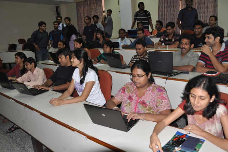 Students at the Indian Institute of Management Lucknow