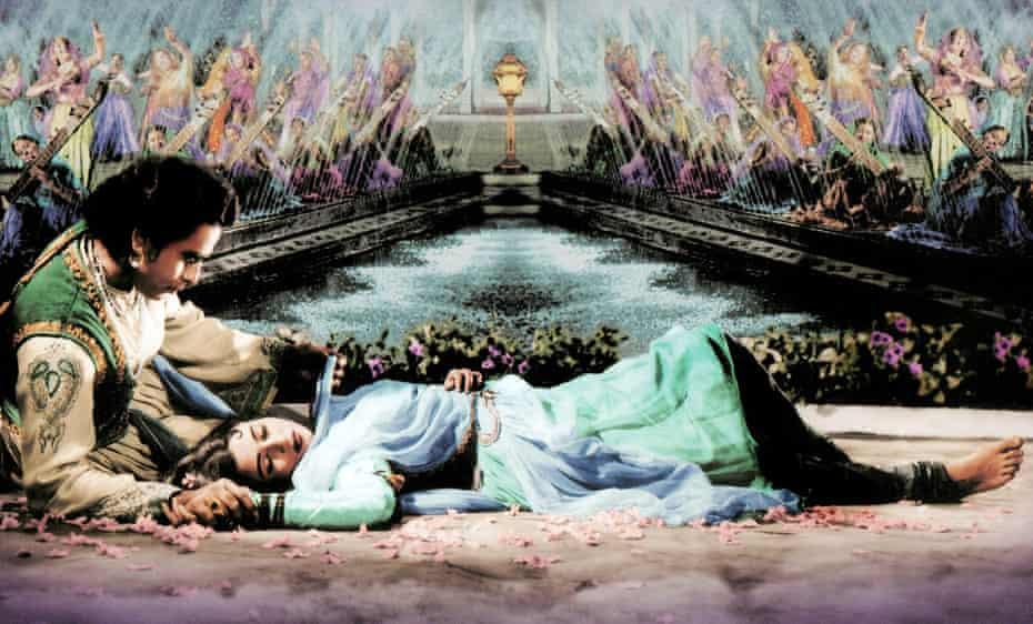 Kumar with Madhubala, a co-star in the 1960 epic Mughal Azam