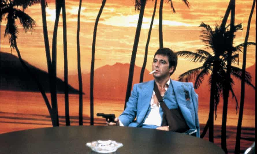Saved for posterity? Or just the wallpaper … Scarface, 1983.