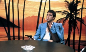 Lowering the Tony … Al Pacino as Tony Montana in Brian De Palma's 1983 Scarface.