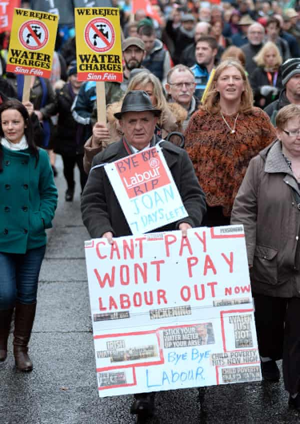 A demonstration against water charges last week.