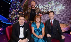 Jonathan Ross, Keith Lemon, Lorraine Kelly and Jimmy Carr in Through the Christmas Keyhole