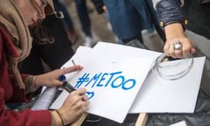 A MeToo demonstrator in Paris