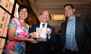 'Fundamental to my now-quaint notion of progressive politics is tolerance, debate, and the critical importance of free speech.' Campbell Newman, his wife Lisa and biographer Gavin King.