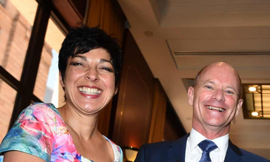 The former Queensland premier, Campbell Newman, and his wife, Lisa, who 'wouldn't cop' him re-entering politics.