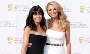 Claudia Winkleman and Tess Daly at the British Academy Television Awards in 2016