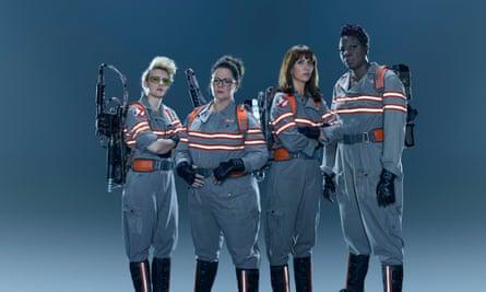 Kate McKinnon, Melissa McCarthy, Kristen Wiig and Leslie Jones in 2016's all-female Ghostbusters.