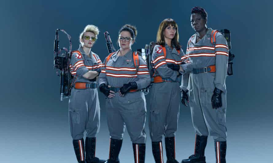 No girls allowed? The all-new Ghostbusters team.