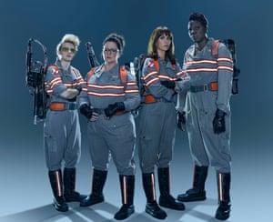 Melissa McCarthy in Ghostbusters with Kate McKinnon, Kristen Wiig and Leslie Jones