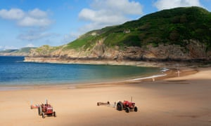 The beach at Greve de Lecq, Jersey