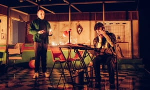David Carlyle and Andrew Finnigan in You Stupid Darkness! at Theatre Royal Plymouth.