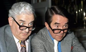 Ronnie Corbett, right, with Ronnie Barker in 1977.