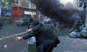 a still from the film version of The Children of Men.
